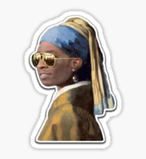 Young Thug Girl With a Pearl Earring Sticker