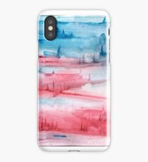 Red and Blue Watercolor Design iPhone Case/Skin