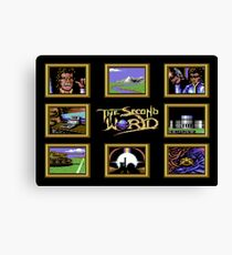 Gaming [C64] - The Second World Canvas Print