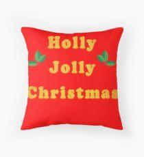 Holly Jolly Christmas Floor Pillow