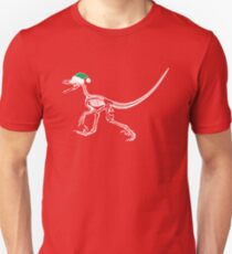 Merry Christmas Raptor - White w/ Green Hat T-Shirt