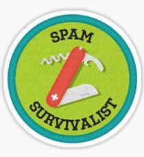 Spam Survivalist Achievement Badge Sticker