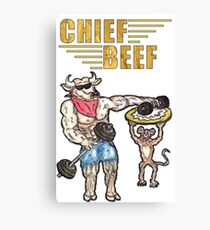 Chief Beef Gold  Canvas Print