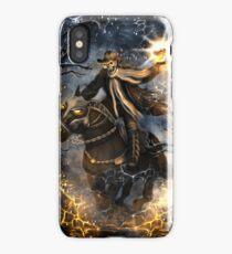 Summoned Skull Grim Reaper Skeleton Riding a Horse iPhone Case