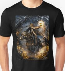 Summoned Skull Grim Reaper Skeleton Riding a Horse T-Shirt