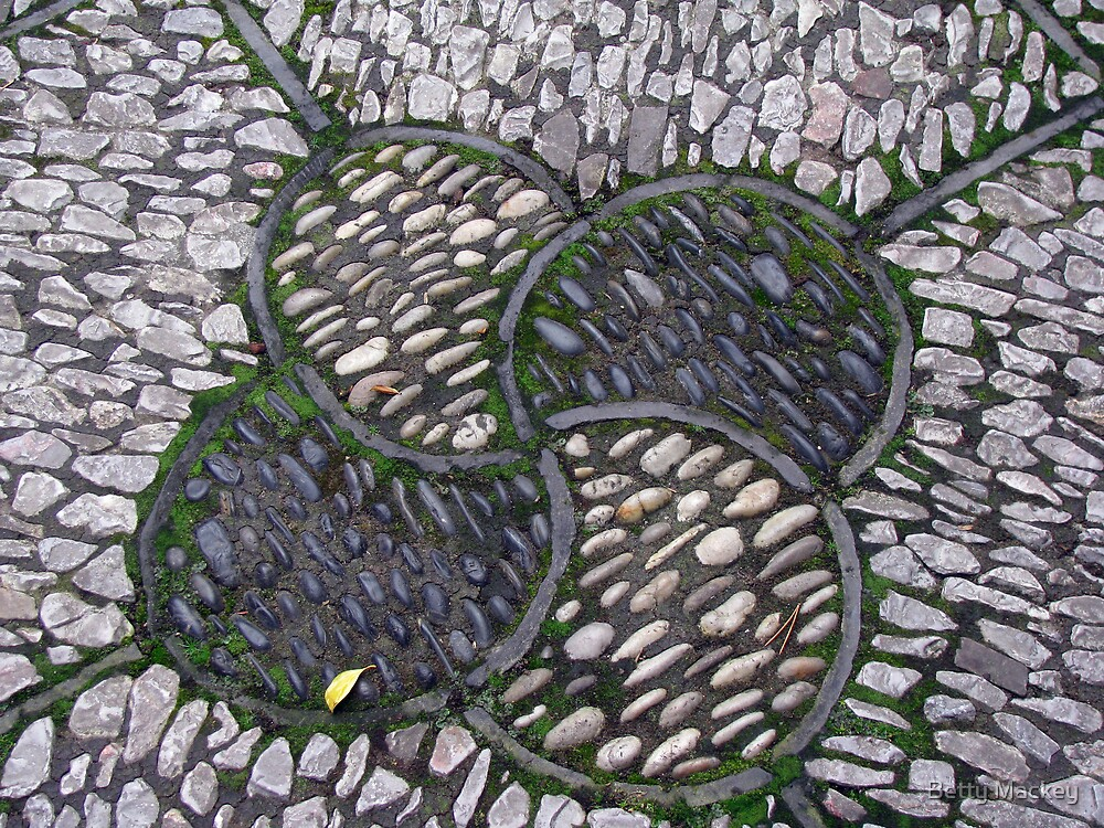 Stonework, Crab Apple Design by Betty Mackey