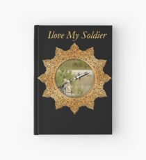 Army anti tank guided missile rocket in the air Hardcover Journal