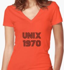 Unix 1970 Women's Fitted V-Neck T-Shirt