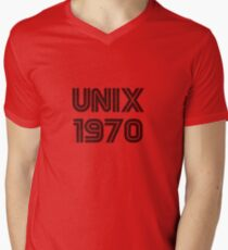 Unix 1970 Men's V-Neck T-Shirt