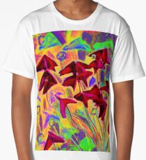 Oxalis / Psychedelic version, modern floral art  Long T-Shirt