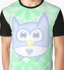 Kawaii floral owl Graphic T-Shirt