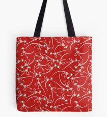 Merry Christmas Raptor - White w/ Green Hat Tote Bag