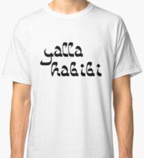Yalla Habibi Arabic Saying | Globetrotter Classic T-Shirt