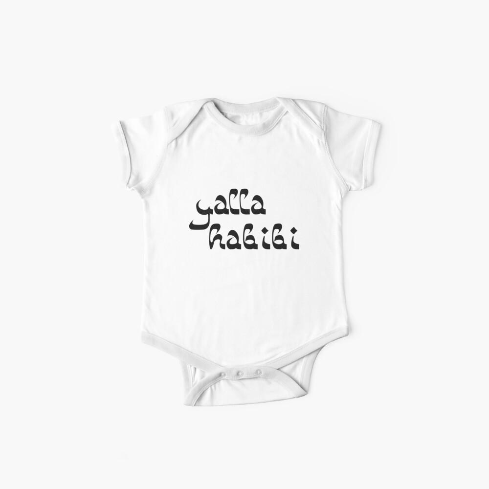 Yalla Habibi Arabic Saying | Globetrotter Baby One-Piece