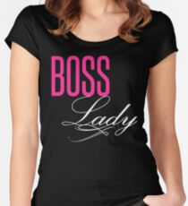 Boss Lady Women's Fitted Scoop T-Shirt