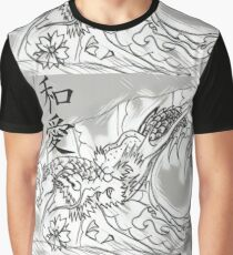 Peace & Love Dragon Graphic T-Shirt