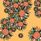 Psychedelic Sunflowers by NancyBenton