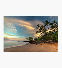 Po'olenalena Beach Sunrise Photographic Print
