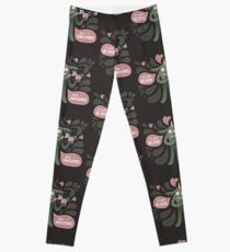 Spooky and cute vampire monster with unicorn Leggings
