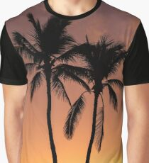 Two Palms Sunrise Graphic T-Shirt