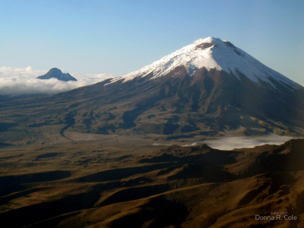 Cotopaxi from the Air by Donna R. Cole
