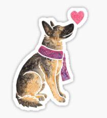 Watercolour German Shepherd Sticker