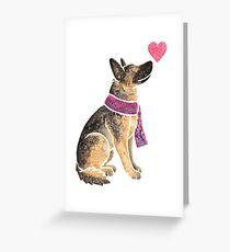 Watercolour German Shepherd Greeting Card