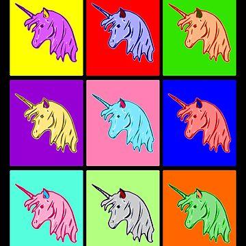 Pop Art Unicorn; Pop Art Unicorn by Kreativista