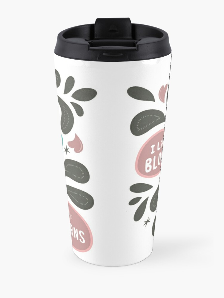 Alternate view of Spooky and cute vampire monster with unicorn Travel Mug