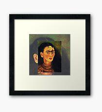 Frida Kahlo Self Portrait Diego and I Framed Print