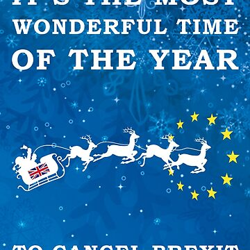 Cancel Brexit Christmas Design by west12345