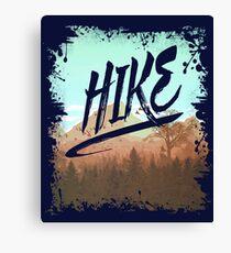 HIKE - I Love Hiking T-Shirt Canvas Print
