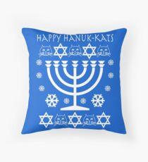 Happy Hanuk-kats Throw Pillow