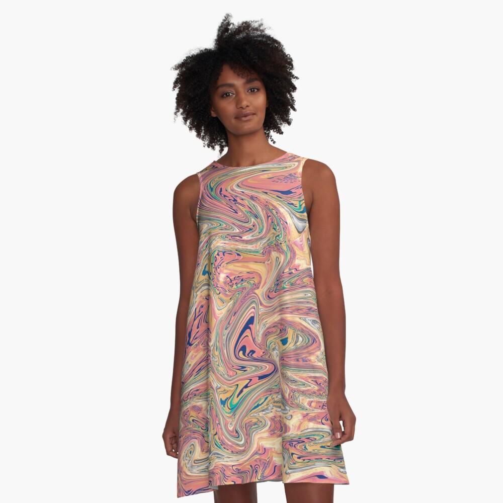 LaCroix Pamplemousse Marmor A-Linien Kleid