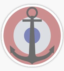 Roundel of the French Naval Aviation (low visibility) Sticker