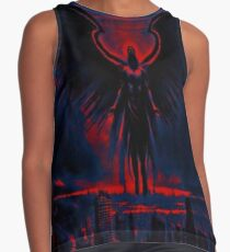 Angelic Guardian Red Blue Contrast Tank