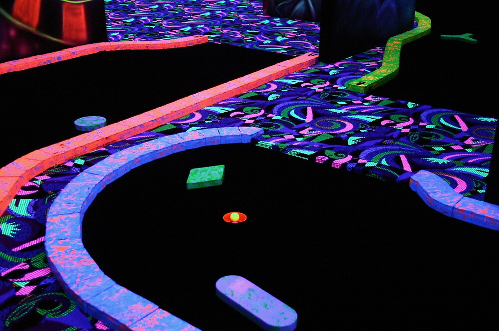 Glow-in-the-Dark Mini Golf by Diana Forgione