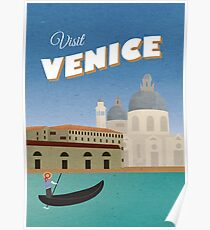 Venice Vintage Travel Poster Poster
