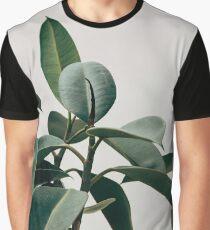 Natural Green Flower  Graphic T-Shirt