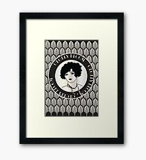 Cecely Bloom Art Deco Icon Portrait Framed Print