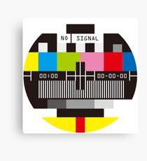 Television Test Screen No Signal Canvas Print