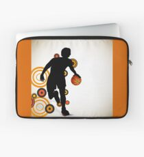 Dribbling Retro Basketballer Laptop Sleeve
