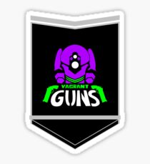Vagrant Guns the T-Shirt (/acg/ is for losers) Sticker