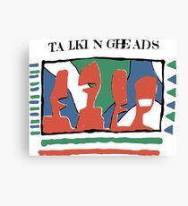 Talking Heads - Gelb 80 & nbsp; s Leinwanddruck