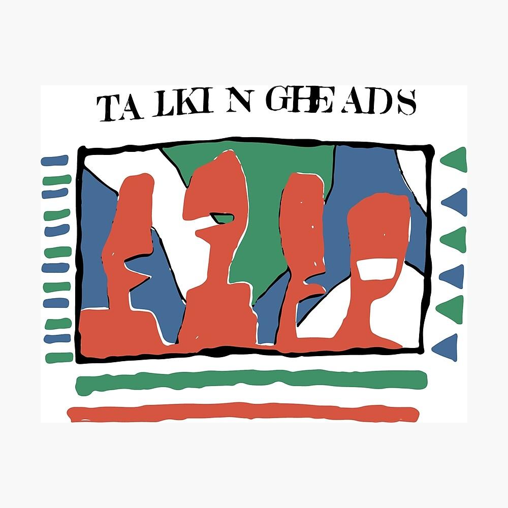 Talking Heads - Gelb 80 & nbsp; s Fotodruck
