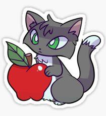 Apple Blue Tuxedo Cat Sticker