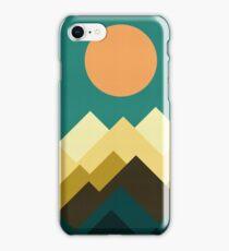 Geometric landscape iPhone Case/Skin