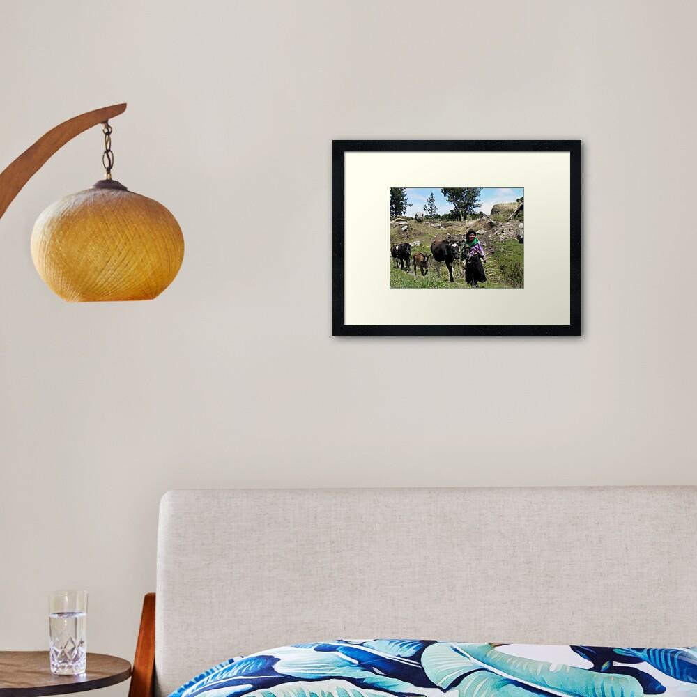 'Til the Cows Come Home Framed Art Print