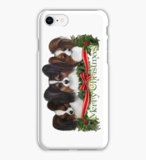 Papillon Merry Christmas iPhone Case/Skin