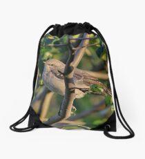Mockingbird late summer Drawstring Bag